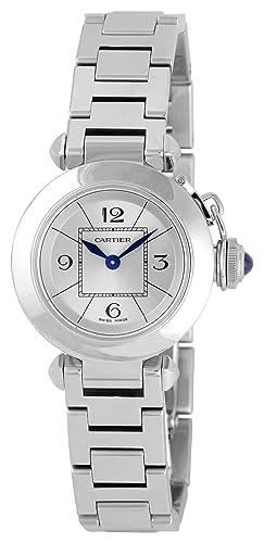 Cartier W3140007 - Reloj de pulsera mujer, acero inoxidable, color plateado: Amazon.es: Relojes