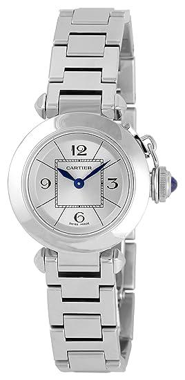 Cartier W3140007 - Reloj de pulsera mujer, acero inoxidable, color plateado
