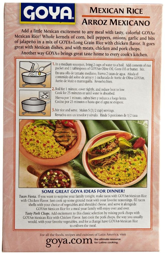 Amazon.com : Goya Seasoned Rice Mix : Rice Produce : Grocery & Gourmet Food