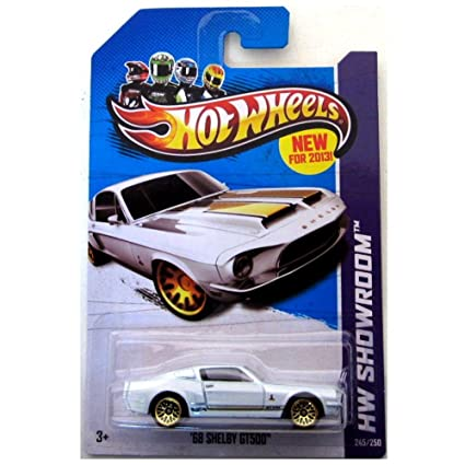 68 Shelby Gt500 >> Amazon Com Hot Wheels 68 Shelby Gt500 Hw Showroom 2013 245 250