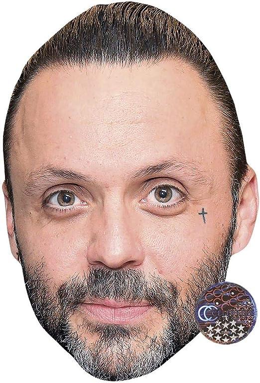 Jack Nicholson Celebrity Mask Card Face and Fancy Dress Mask Goatee