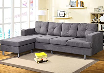 Amazon.com: Harper&Bright Designs Modern Sectional Sofa Set with ...