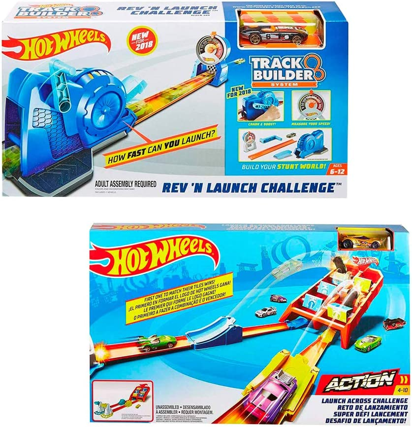 Hot-Wheels Rev N Launch (FLL02) Action Launch Across Challenge (GBF89) Track Builder: Amazon.es: Juguetes y juegos