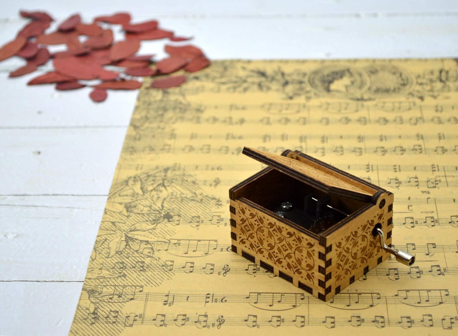 Carry You Castle in the Sky Carry You Spieluhr mit 18 Notenmechanismus Melodie Schloss in der Hand Holz Musikbox zum Basteln