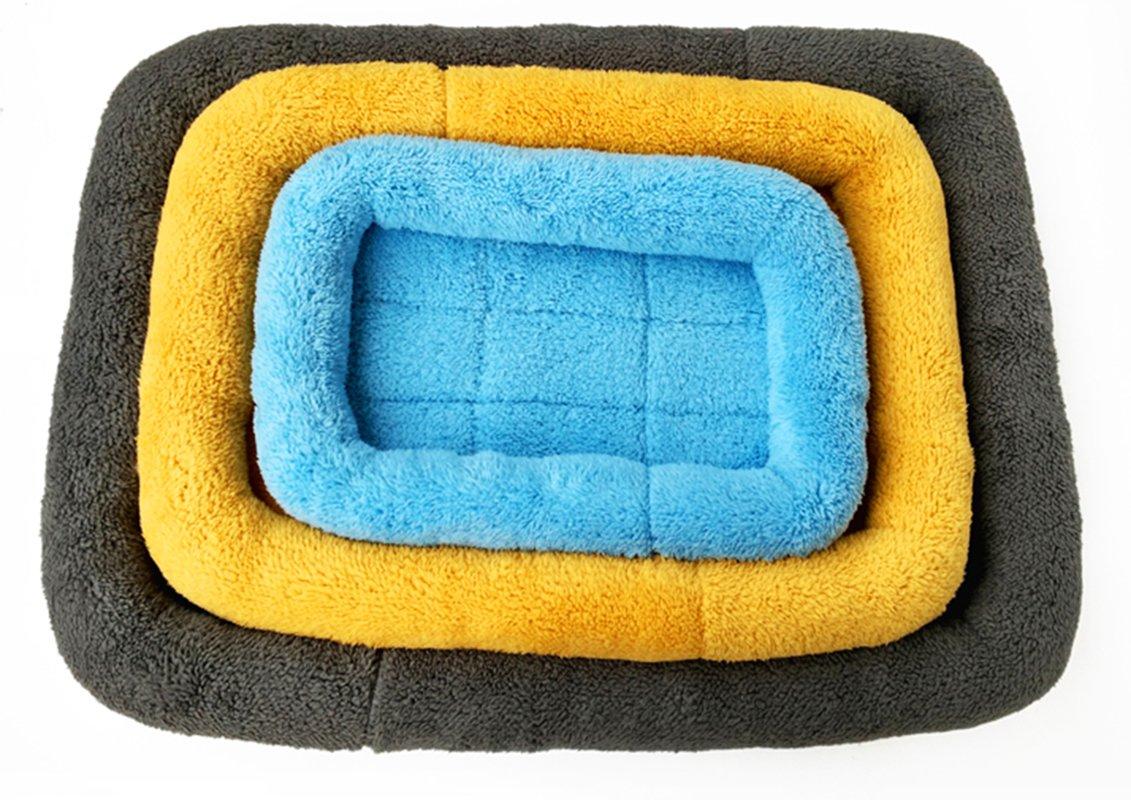 jaula perreras cama jaula L Xiaoyu Invierno c/álido c/ómodo perro gato mascota colchoneta para mascotas gris