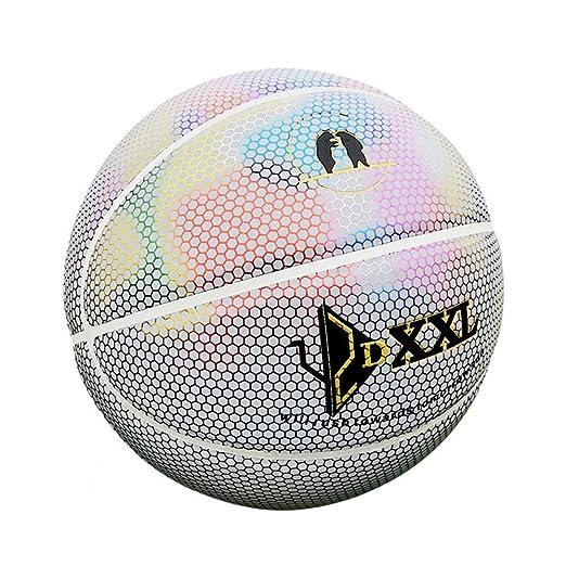 DUTUI Balón de Baloncesto Reflectante, tamaño 7, holográfico ...
