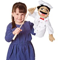 Melissa & Doug Chef Puppet with Detachable Wooden Rod for Animated Gestures^Melissa & Doug Chef Puppet with Detachable Wooden Rod for Animated Gestures