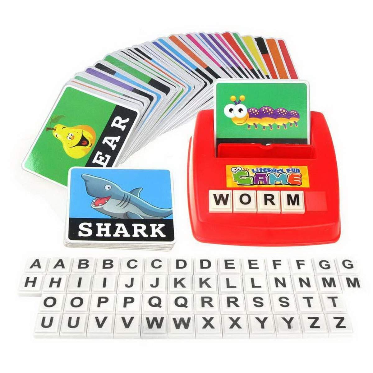 Premewish Children Kids Learning Entertainment English Letter Sight Words Cards Phonics Educational Games for 0-14 Ages