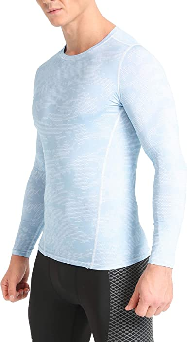 Mens Compression Top Long Sleeves Base Layers Armour Sports Athletic Gym Pants