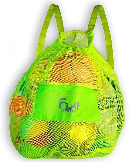 Amazon.com : Mesh Sports Bag - Large Backpack for Soccer Ball, Basketball, Swim, Pool Toy : Clothing