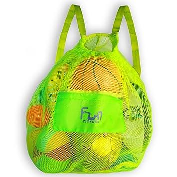 BOLSA DE MALLA DEPORTIVA – Mochila Gimnasio Grande - Bolsas de Red – Ideal para Balones de Fútbol, Pelotas de Basket, Material de Natación, Para la ...