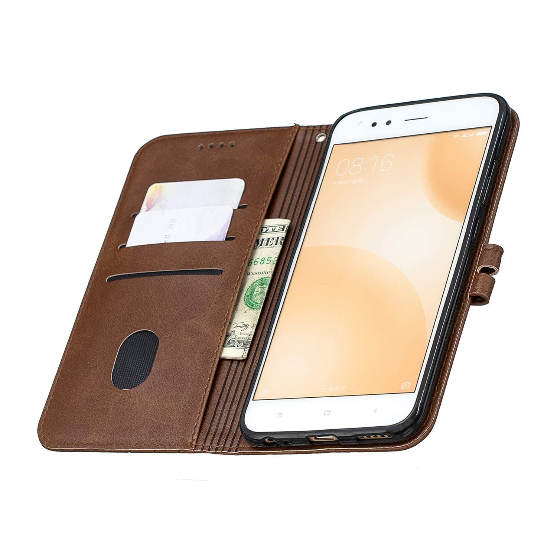 DOHEX120506 Gelb H/ülle Leder Case mit Standfunktion Magnetverschluss Flipcase Klapph/ülle kompatibel mit Xiaomi Mi5X //MiA1 Docrax Xiaomi Mi 5X //Xiaomi Mi A1 Handyh/ülle
