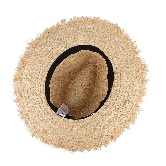 4056c9ca August Jim Sombreros de Paja para Hombre, de Verano, con Borla de ...