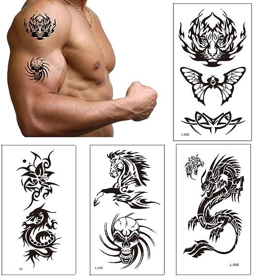 Tatuajes temporales para adultos, Vibury 21 Hojas Temporales ...