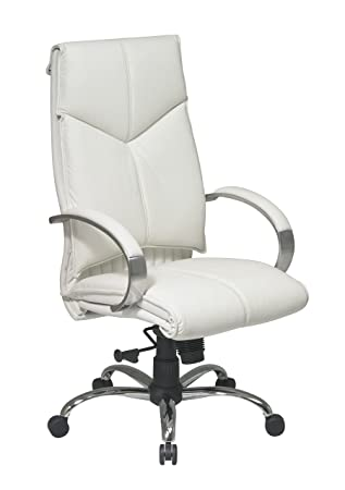 white leather executive chair. Office Star White Leather Executive Chair S