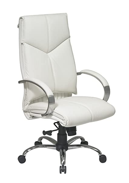 Beau Office Star White Leather Executive Chair