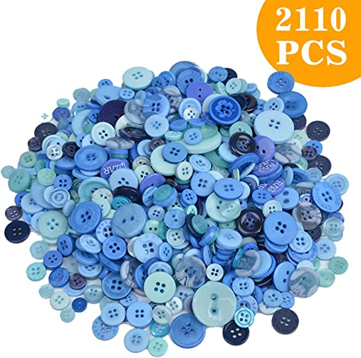 800 Pcs Assorted Sizes Resin Buttons ,Round Craft Buttons for Sewing DIY Crafts,Childrens Manual Button Painting