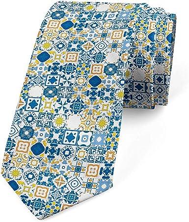 Mathillda Corbata, mosaico Azulejo, corbata de vestir, mostaza ...