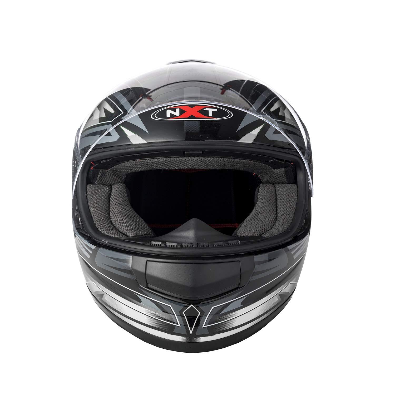 Full Face Sun Visor Front Motorbike Helmet Scooter Motorycle Bike Racing Helmet For Mens Womens Kids Boys - Size Large REXTEK FF858