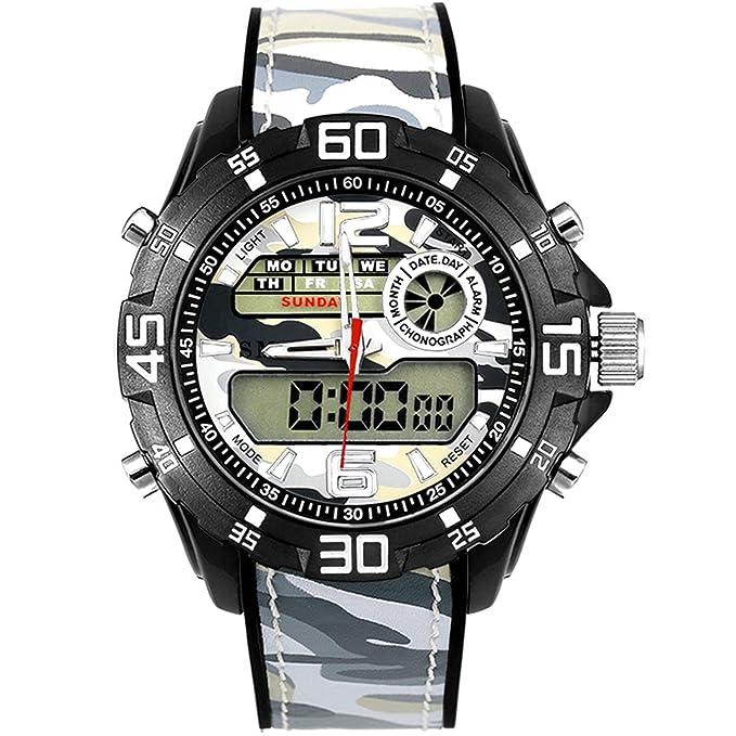 Blisfille Relojes Junior Deportivos Reloj Acero Negro Mujer Reloj ...