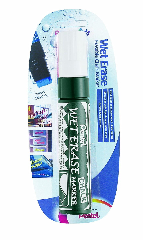 Pentel Tip SMW56-G 3.5-10.5mm Chisel Tip Pentel Jumbo Wet Erase Chalk Marker - Amarillo e926f3
