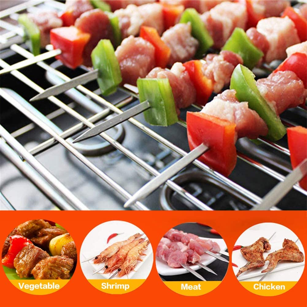 trancheur de 16 Trous pour Kebab Satay Kebab Make Box Portable Moule pour brochettes de Barbecue Fenghong Bo/îte de brochettes pour Barbecue