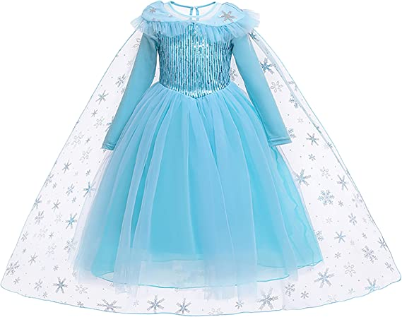 YOSICIL Vestido de Princesa Largo con Capa Costume de Actuacion ...
