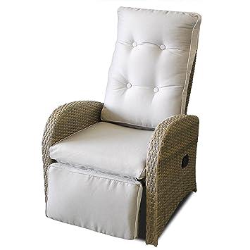 Lounge sessel rattan grau  Amazon.de: Poly Rattan Gartensessel Relaxsessel Fernsehsessel ...