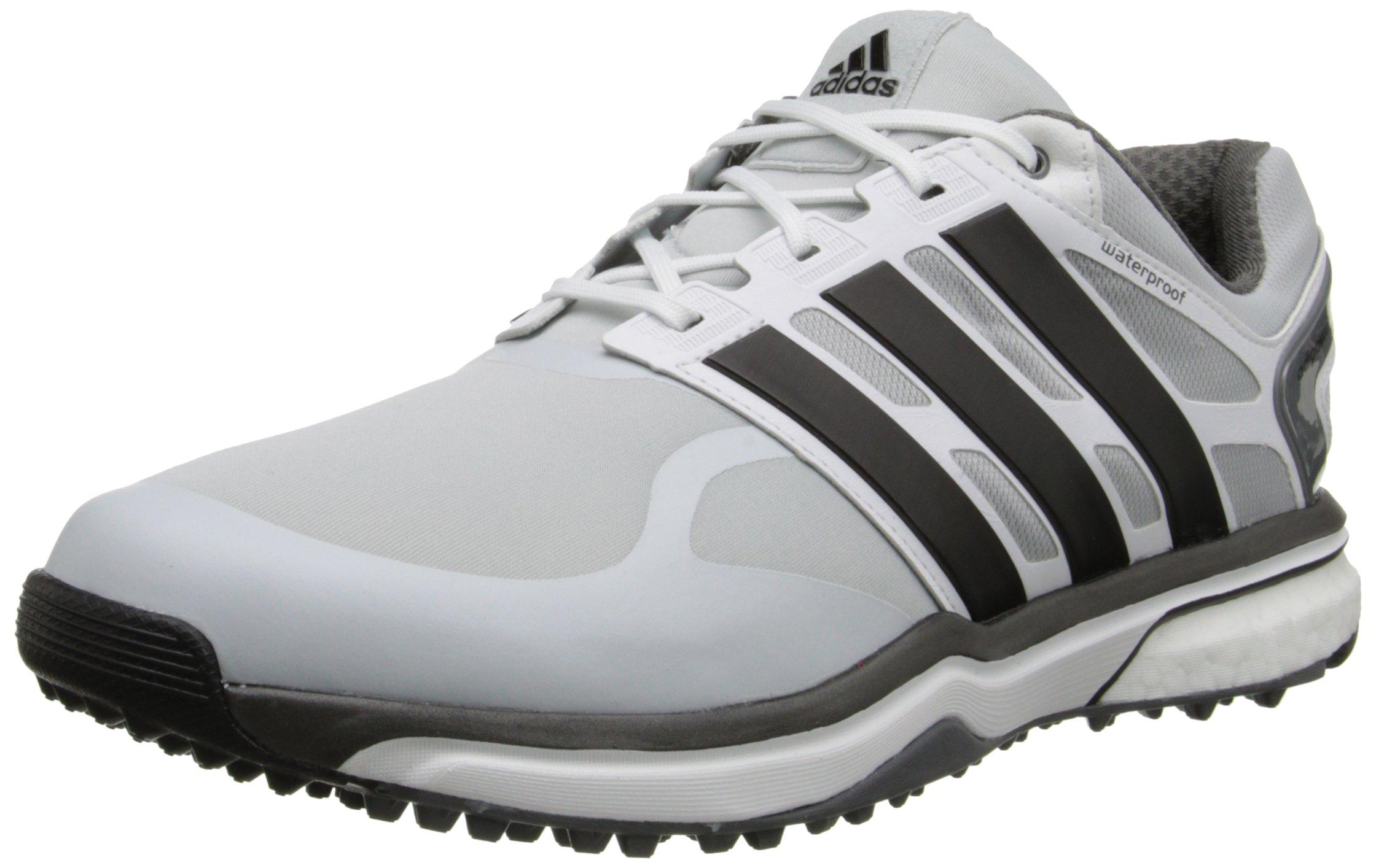 adidas Men's Adipower S Boost-M, Clear Grey/Black/Bold Orange, 9 M US