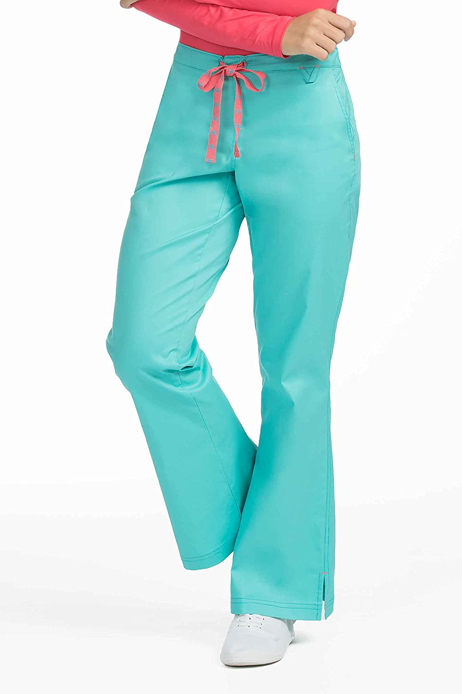 Med Couture Women/'s /'MC2/' Skyler Scrub Pant Medium Petite Flamingo