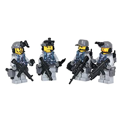 Modern Brick Warfare Navy Seal Team 6 Squad Custom Minifigure: Toys & Games