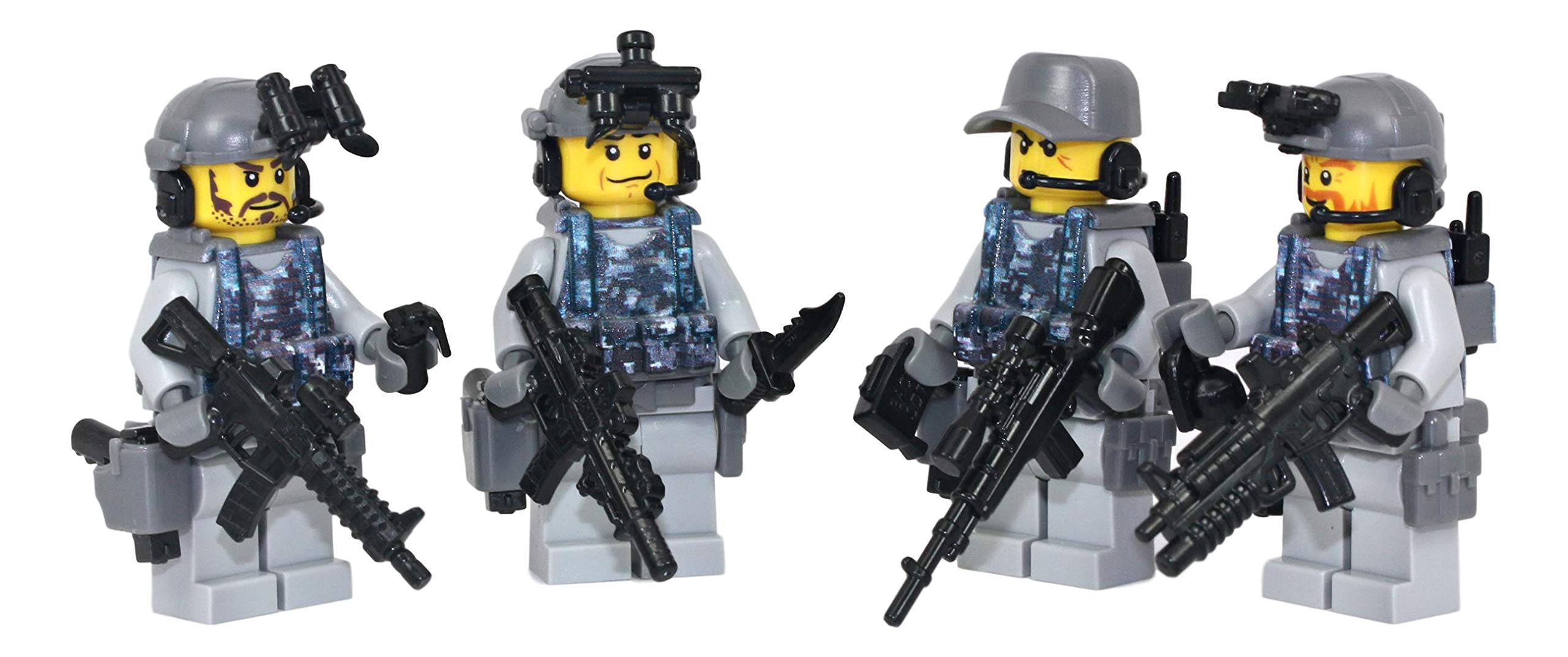 Navy Seal Team 6 Squad - Modern Brick Warfare Custom Minifigure