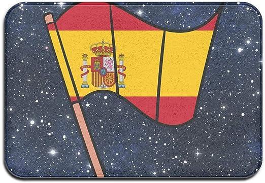 Felpudo Decorativo para Interiores y Exteriores, Lavable, con Respaldo Antideslizante, diseño de Bandera de España para Patio o Entrada: Amazon.es: Hogar