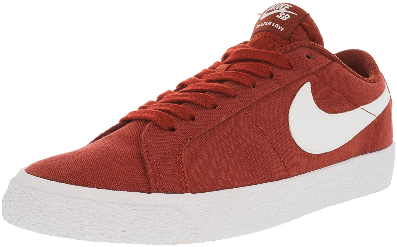 Nike Men's Sb Blazer Zoom Low Dark Cayenne/White Top Canvas Skateboarding Shoe - 7M
