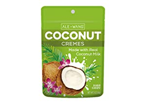 ALE + WANG Coconut Cremes Hard Candy   Made with 100% Pure Coconut Milk   Great Alternative to Chocolate, Caramel, and Toffee (2-Pack)