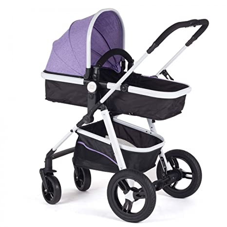 Baby Vivo Cochecito de Bebé Combinado 2 en 1 - Púrpura