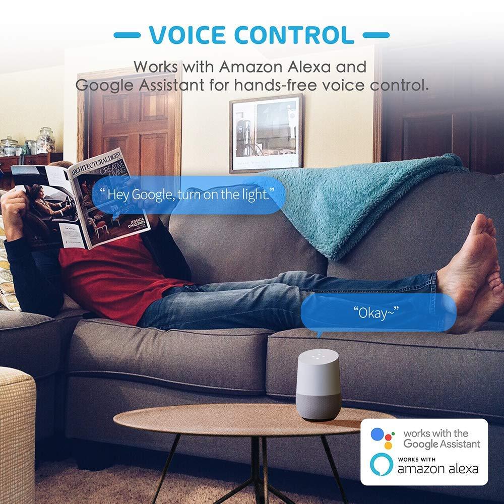 MSS510HEU kompatibel mit Alexa Meross WLAN Smart Lichtschalter Touchscreen 1 Weg 1 Gang Wandschalter mit App Fernsteuerung Google Home und IFTTT Neutraler Draht und 2,4 GHz WLAN ben/ötigt!