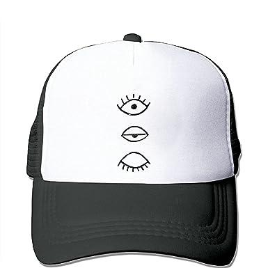 0791fd9a7a83a ZMvise Love Eyeball Style Custom Printed Fashion Baseball Cap Trucker Mesh  Hat Beanie