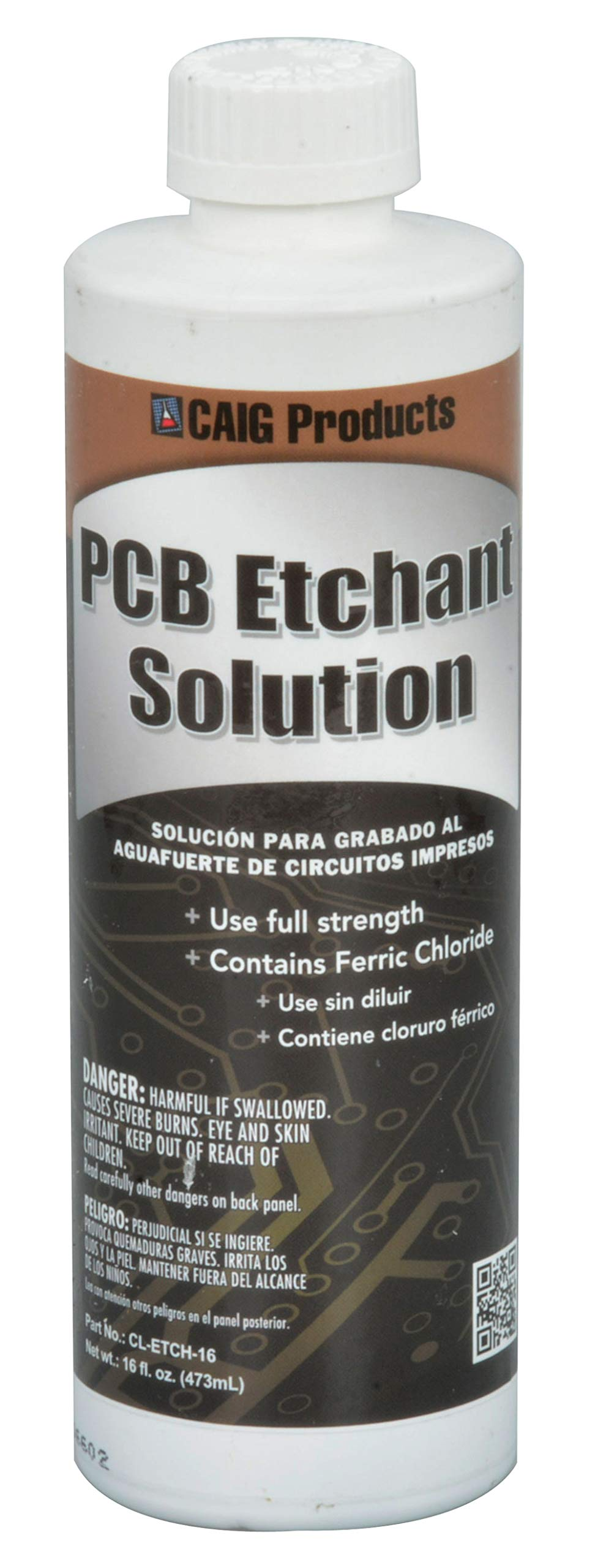 Caig Labs CL-ETCH-16 Ferric Chloride PCB Etchant Solution 16oz Bottle