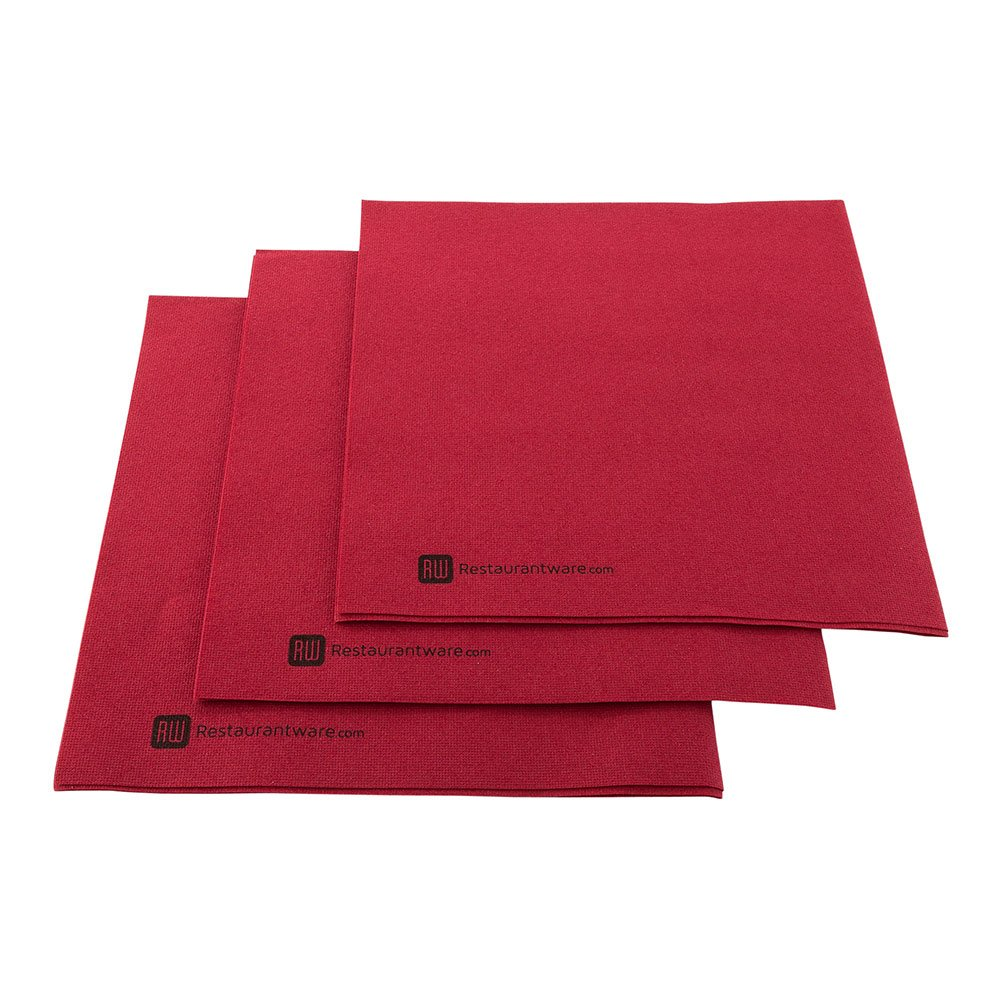 Luxenap Air Laid Bordeaux Dinner Napkins - Soft and Durable 16'' x 16'' Paper Napkins - Disposable and Recyclable – 600-CT – Restaurantware