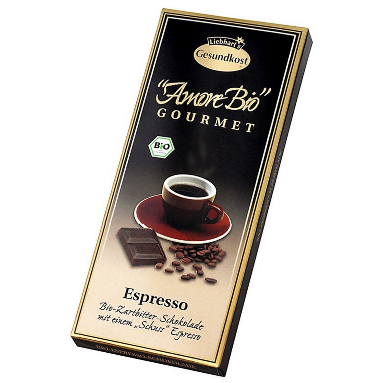Liebhart´s Gesundkost Amore-Bio Espresso-Zartbitter-Schokolade, 100 ...