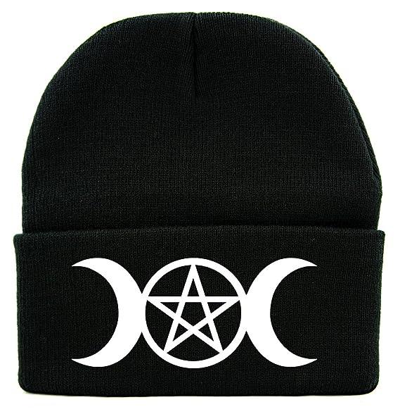 Amazon Crescent Moon Triple Goddess Symbol Cuff Beanie Knit Cap