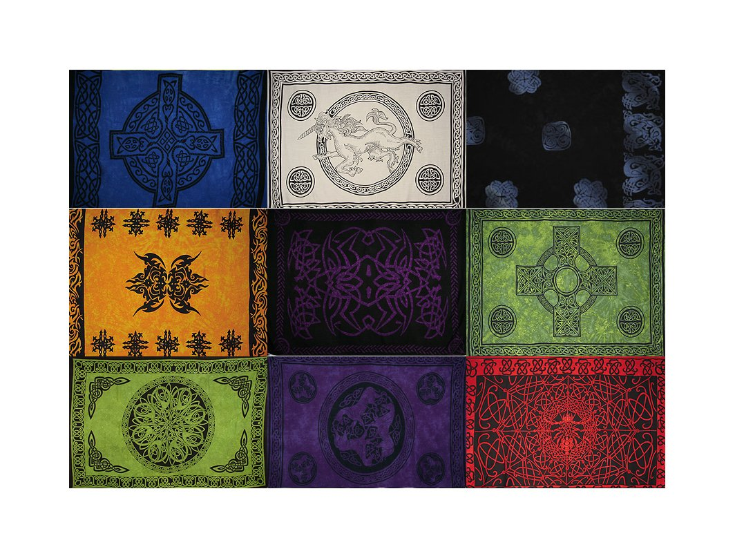 Celtic Sarongs - 10 Piece Assortment, Bestsellers - Free Gifts!