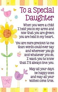 Daughter birthday card shih tzu hair rollers little purple heartwarmers to a special daughter keepsake card envelope 35 x 2 bookmarktalkfo Images