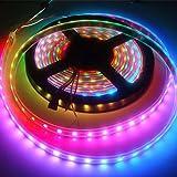 Xiahbong 5 m 5050 SMD RGB tira flexible LED luz muti color 12V 300 LED lámpara