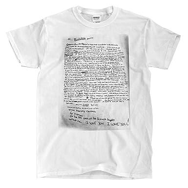 Kurt Cobain Suicide Note White T Shirt