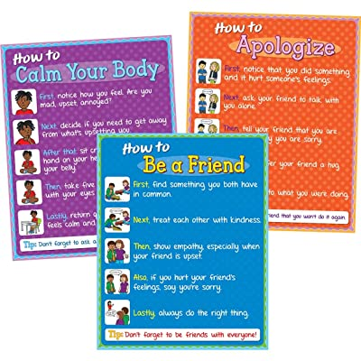 Really Good Stuff How to Social/Emotional Poster Set: Toys & Games [5Bkhe0401071]