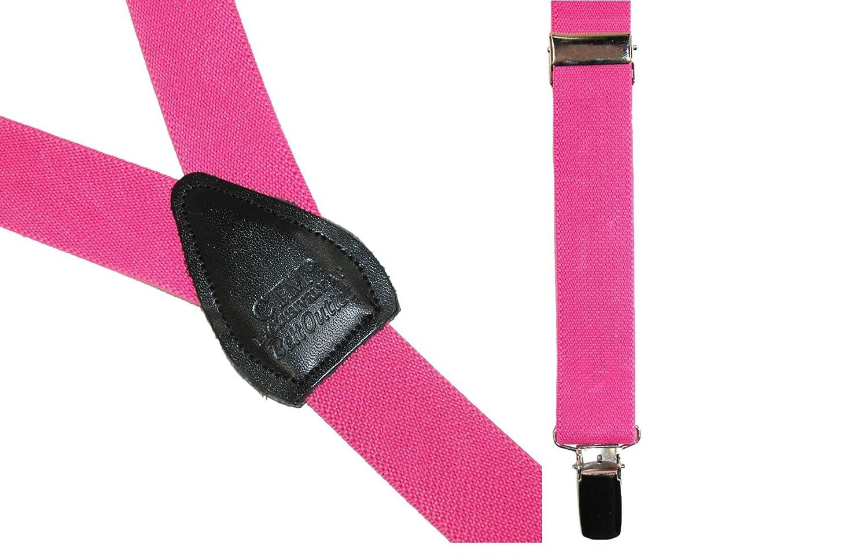 CTM Elastic 1 Inch Wide Fashion Color Clip-End Suspenders