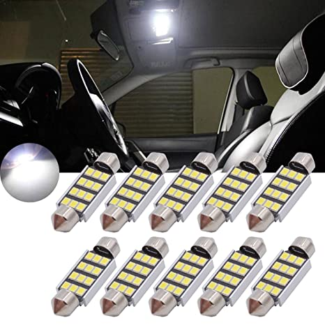 TUINCYN 39MM Chipsets Aluminum CanBus Bombilla LED Libre de Error Blanco Super Brillante 2835-8SMD