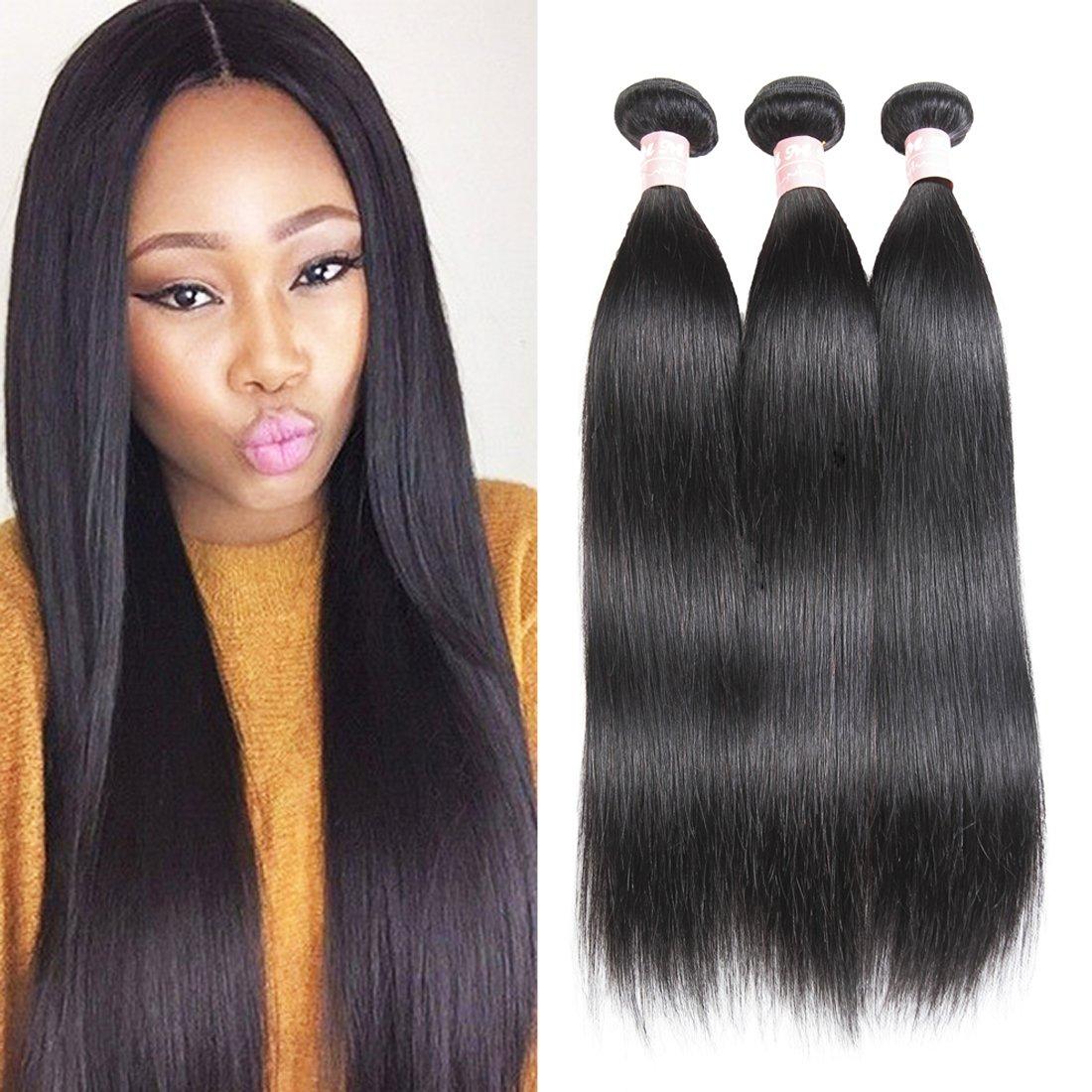 Amazon Hmd Brazilian Hair 3 Bundles Virgin Unprocessed